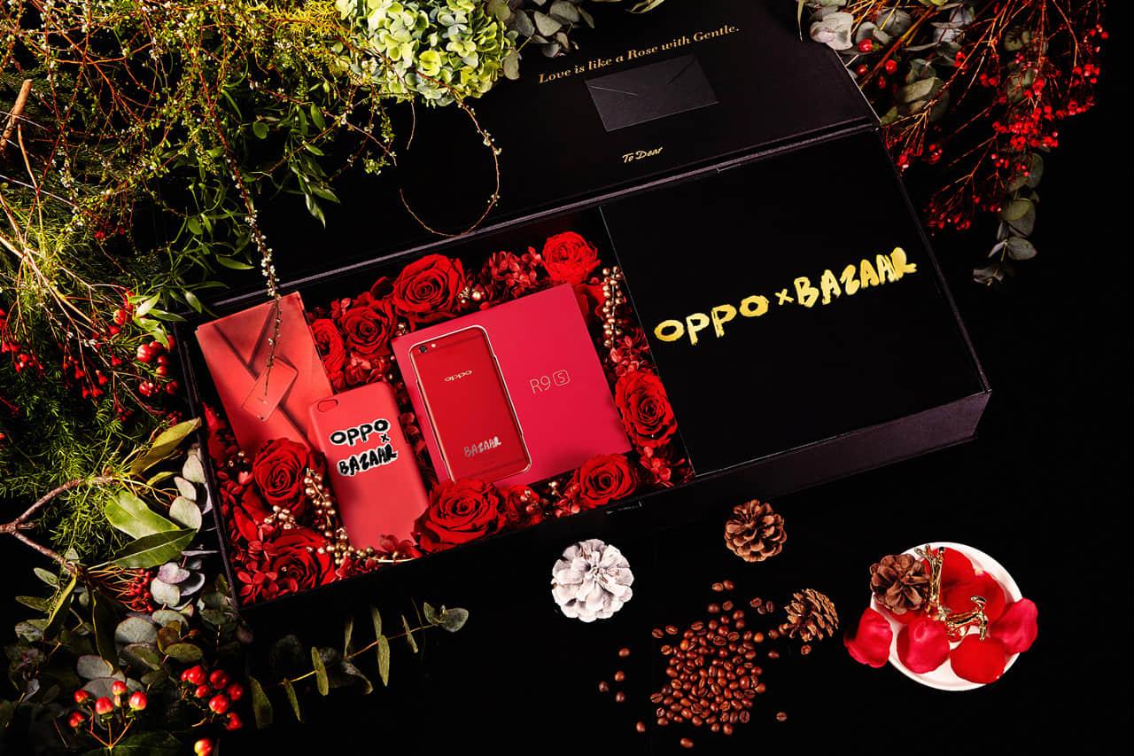 OPPO联手BAZAAR推出R9s新年红限量版.jpg